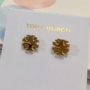 Tory Burch golden logo earring